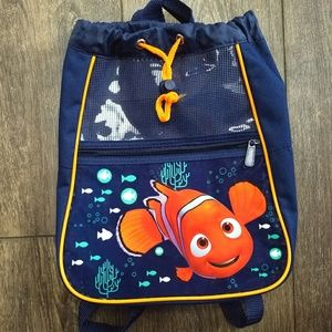 Disney nemo navy kids drawstring backpack